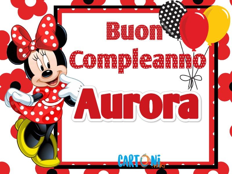 Buon compleanno Aurora - Cartoni animati