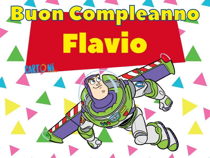 Buon compleanno Flavio con Buzz Lightyear - Buon compleanno