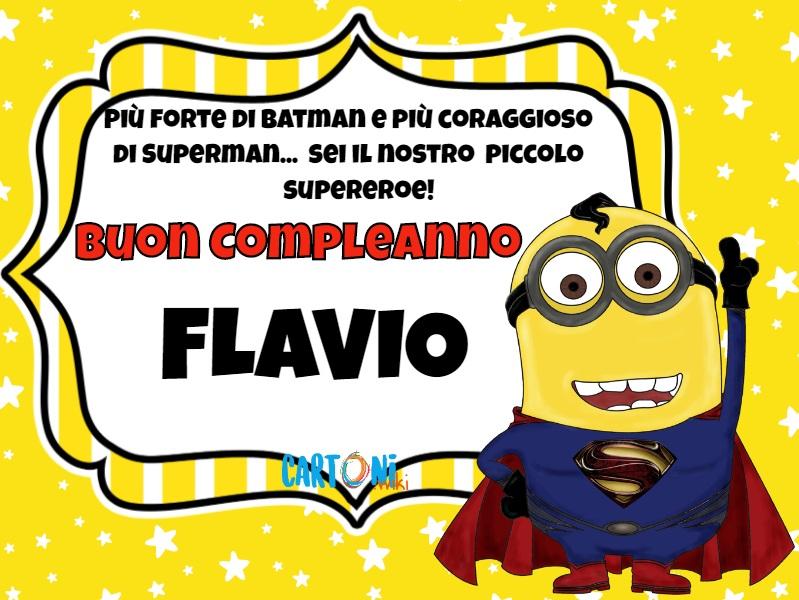 Buon compleanno Flavio piccolo supereroe - Buon compleanno