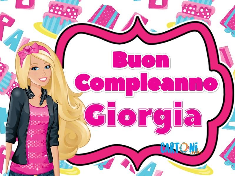 Buon compleanno Giorgia con Barbie - Buon compleanno