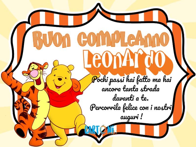 Buon Compleanno Leonardo Con Winnie The Pooh Cartoni Animati