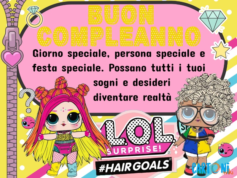 Buon compleanno con Lol Surprise #hairgoals
