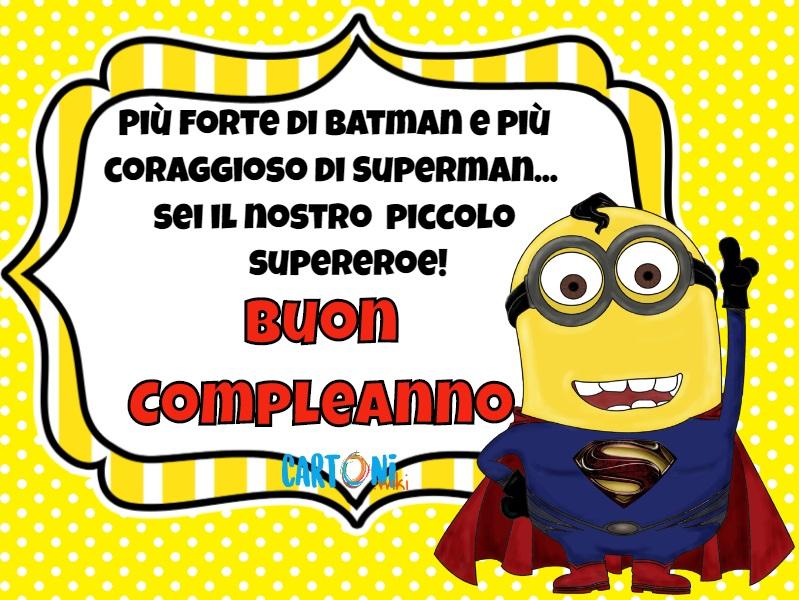 Buon compleanno piccolo supereroe - Cartoni animati