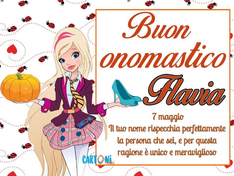 Buon onomastico Flavia - Cartoni animati