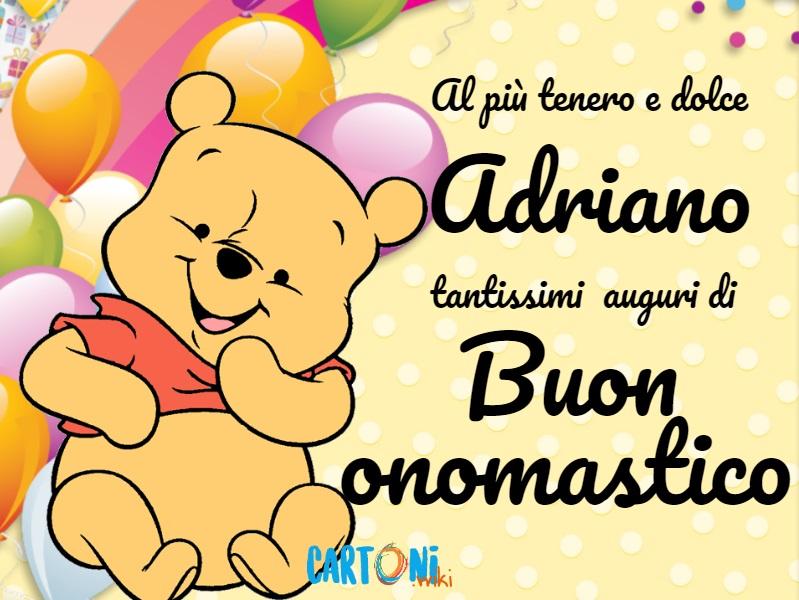 Buon onomastico Adriano - Cartoni animati