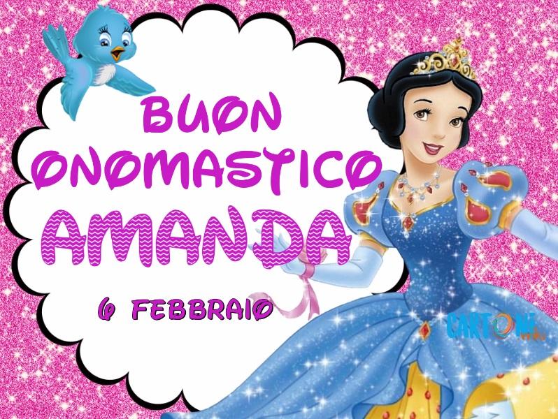 Buon onomastico Amanda - Cartoni animati