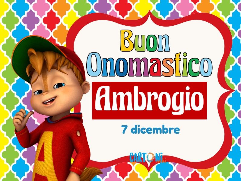 Buon onomastico Ambrogio - Cartoni animati