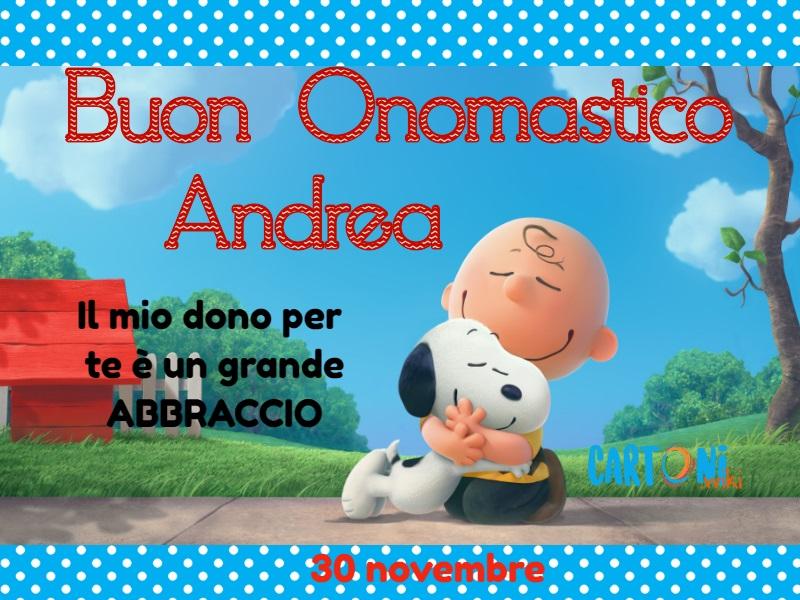 Auguri di Buon onomastico Andrea - Buon onomastico