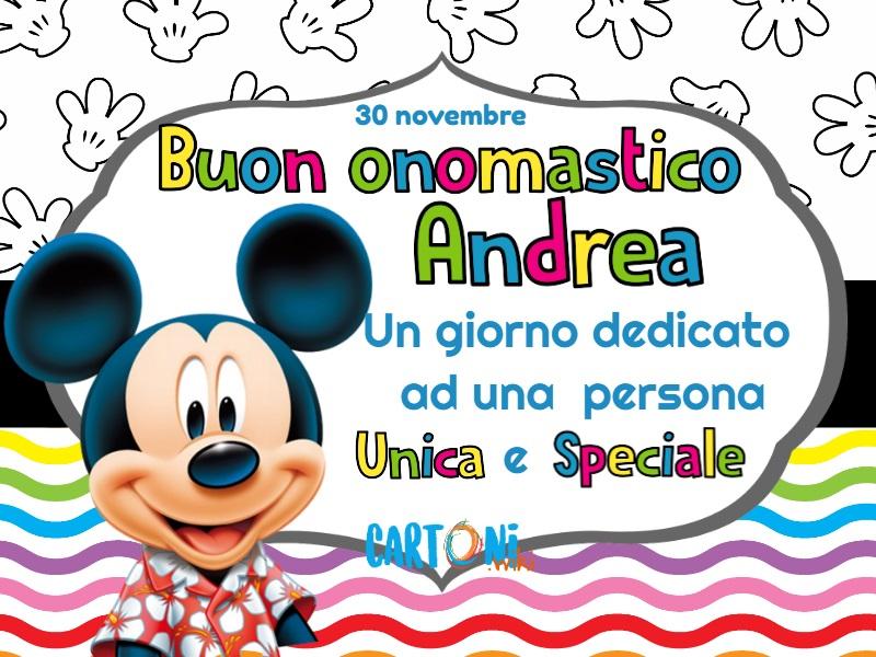 Tanti auguri di Buon onomastico Andrea - Buon onomastico