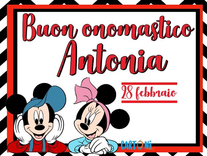 Buon onomastico Antonia - Cartoni animati