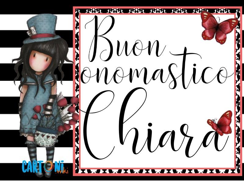 Auguri Buon onomastico Chiara - Cartoni animati