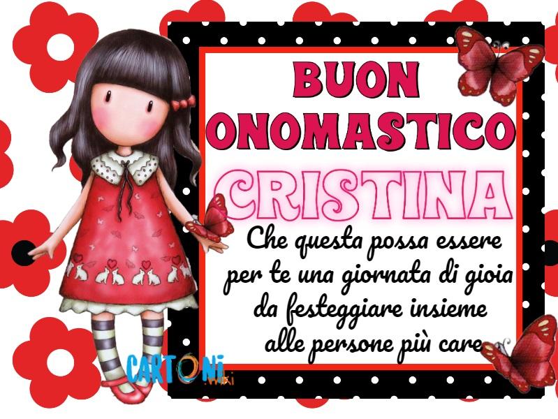 Auguri Cristina buon onomastico - Buon onomastico