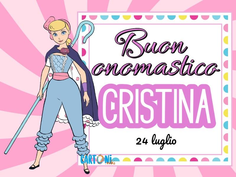 Buon onomastico Cristina - Cartoni animati
