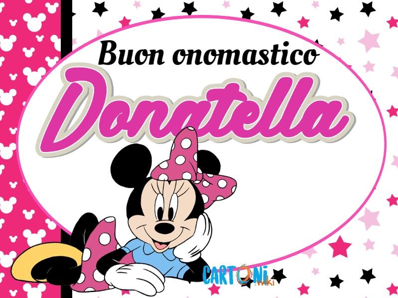 Buon onomastico Donatella - Cartoni animati