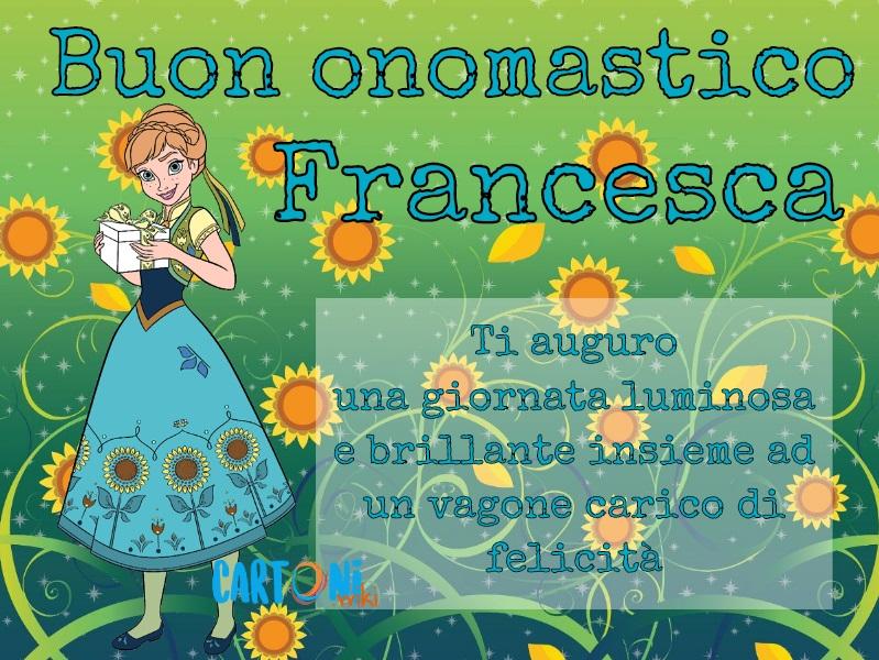 Buon onomastico Francesca - Cartoni animati