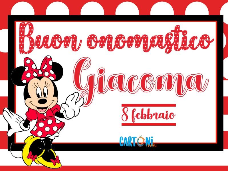 Buon onomastico Giacoma - Cartoni animati