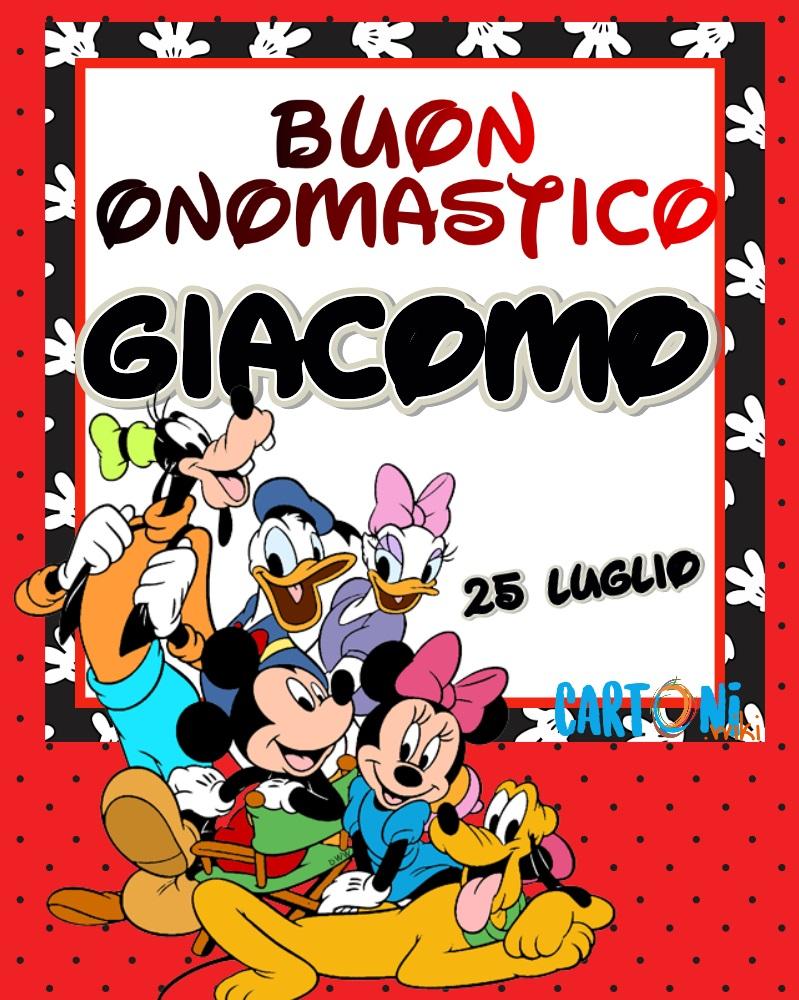 Buon onomastico Giacomo - Cartoni animati