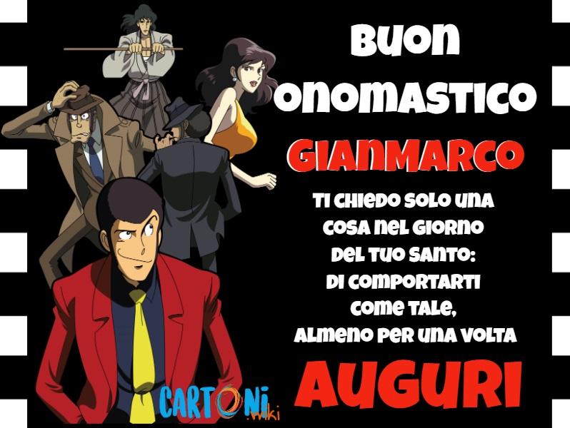 Buon onomastico Gianmarco - Cartoni animati
