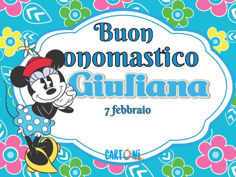 Buon onomastico Giuliana - Cartoni animati