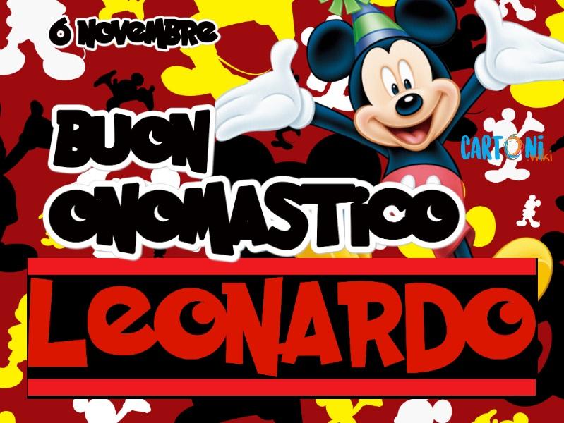Buon onomastico Leonardo - Cartoni animati