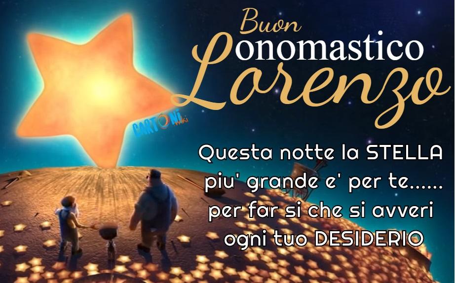 Buon onomastico Lorenzo - Buon onomastico