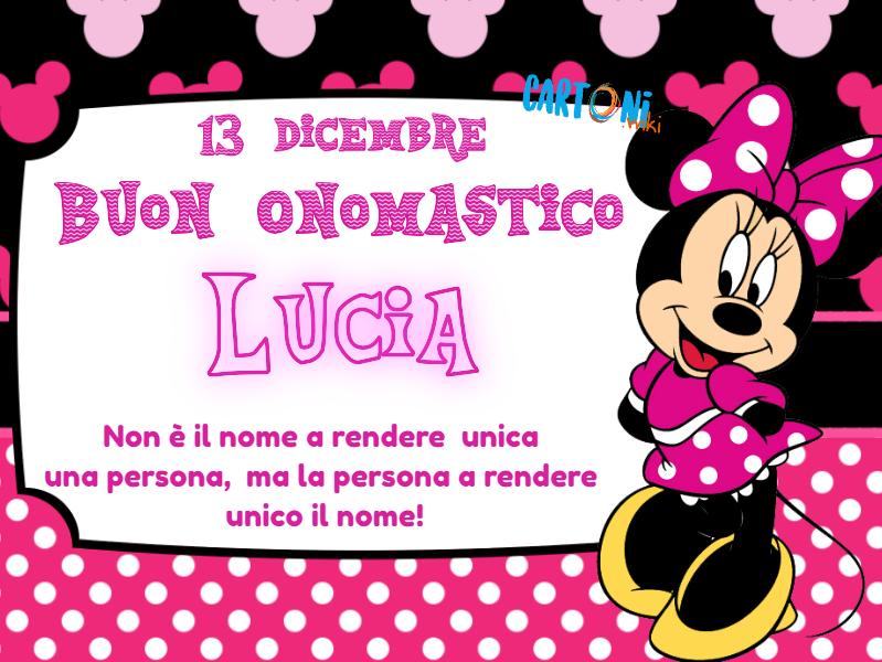 Auguri Lucia E Buon Onomastico Cartoni Animati
