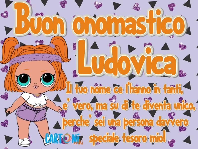 Buon onomastico Ludovica - Cartoni animati