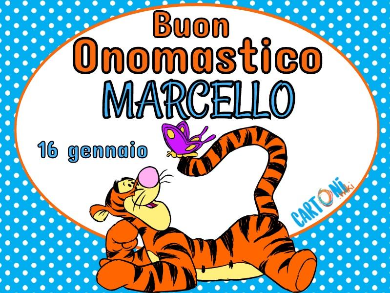 Buon onomastico Marcello - Cartoni animati