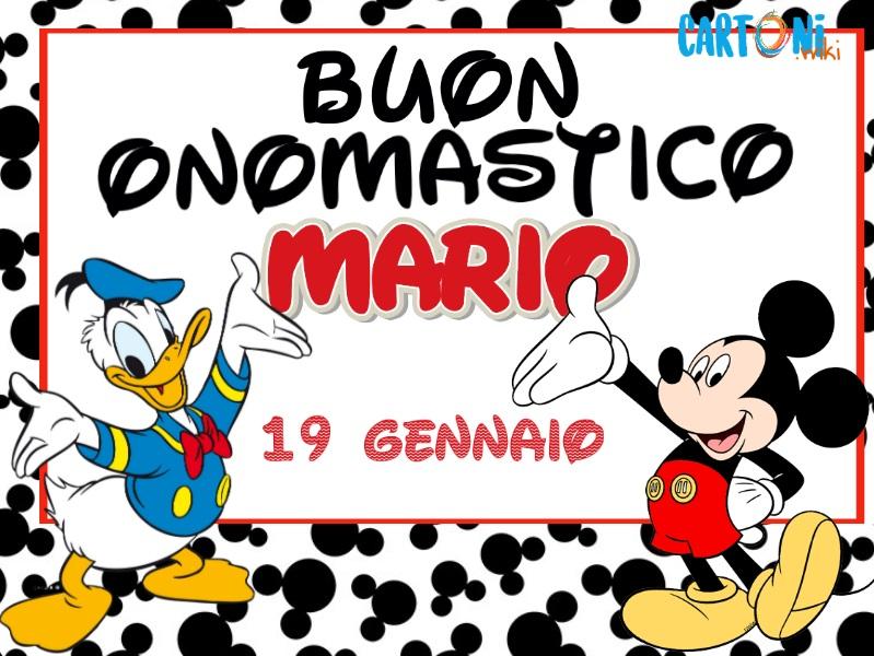 Buon onomastico Mario - Cartoni animati
