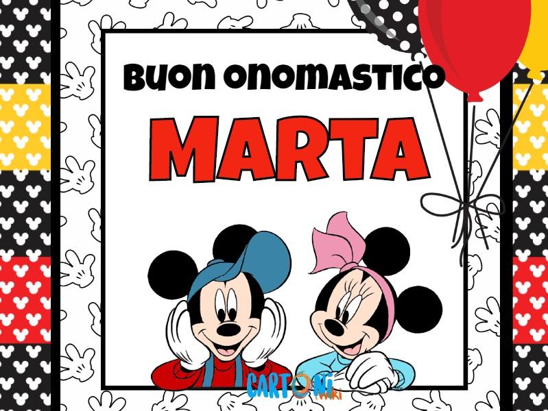 Buon onomastico Marta - Cartoni animati