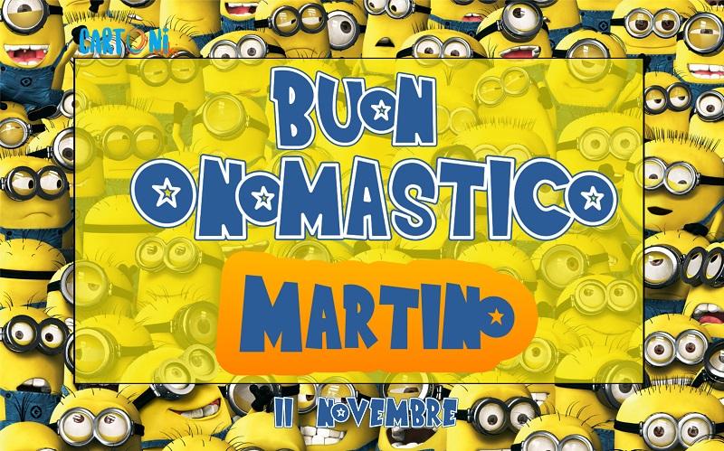 Buon onomastico Martino - Cartoni animati