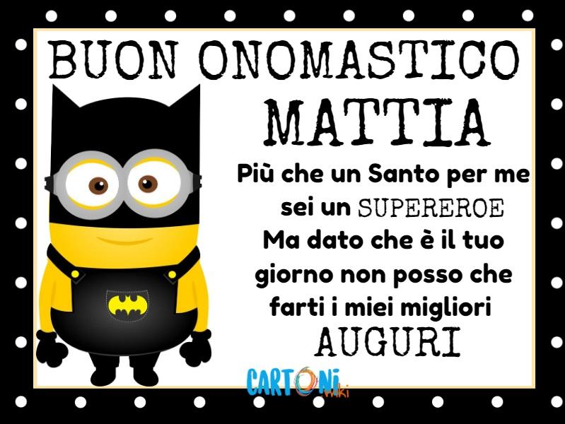 Buon onomastico Mattia - Cartoni animati
