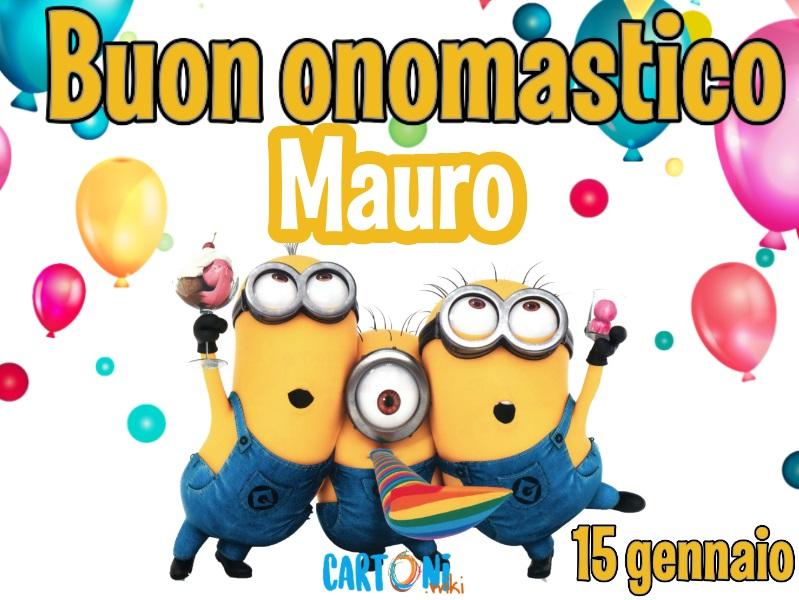 Buon onomastico Mauro - Cartoni animati