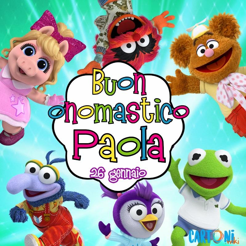 Buon onomastico Paola - Cartoni animati