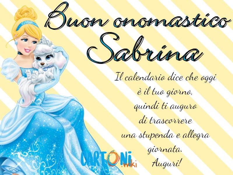 Buon onomastico Sabrina - Cartoni animati