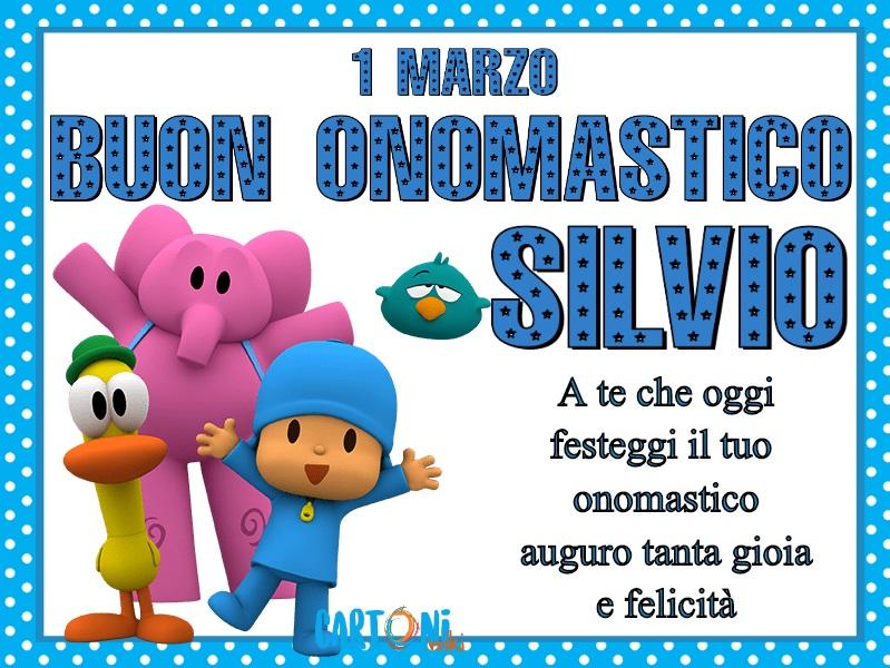 Buon onomastico Silvio 1 marzo - Cartoni animati