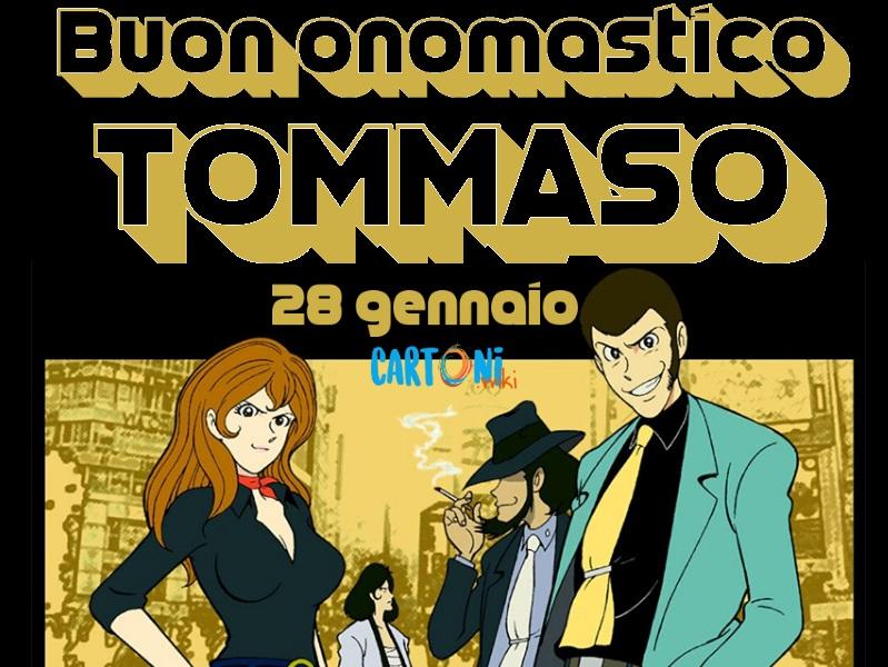Buon onomastico Tommaso - Cartoni animati