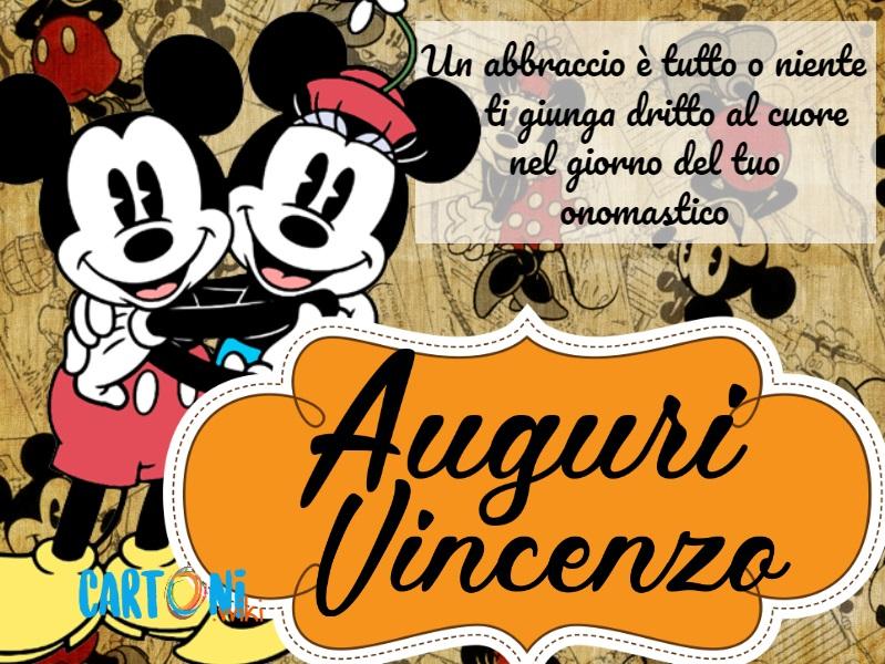 Buon onomastico Vincenzo - Cartoni animati