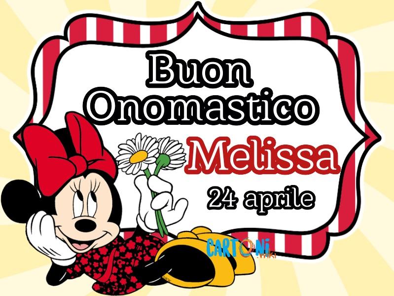 Buon onomastico Melissa - Cartoni animati
