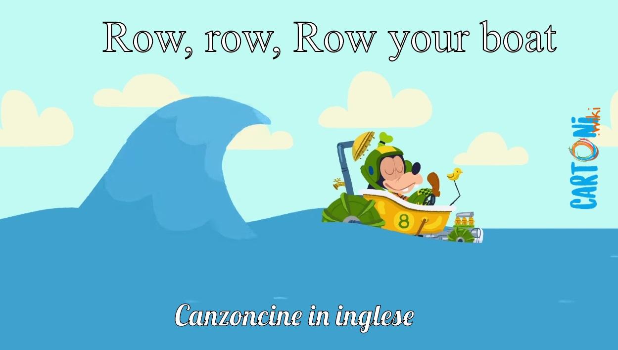 Row, row, row your boat - Cartoni animati