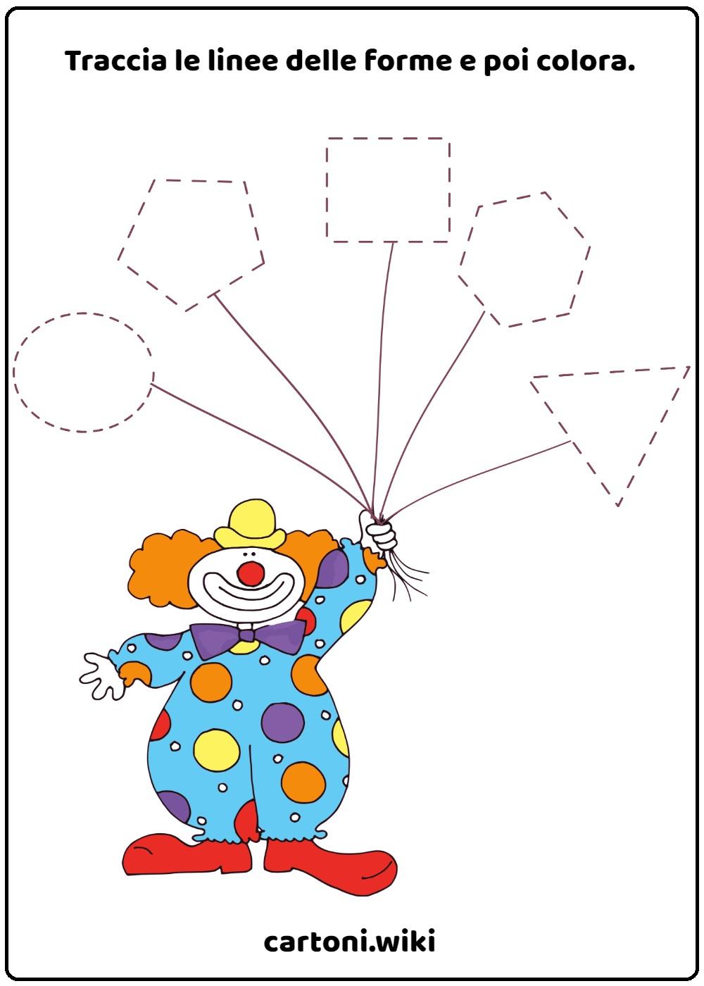 Schede carnevale pregrafismo e figure geometriche - Schede didattiche Carnevale