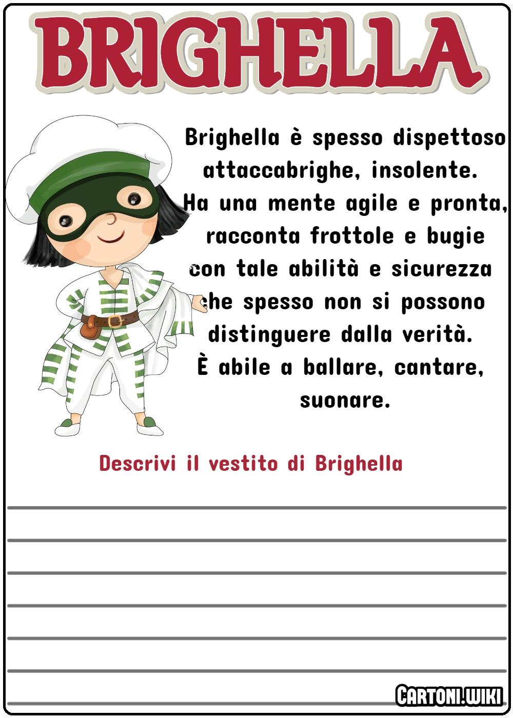 Descrivi il vestito di Brighella - Cartoni animati