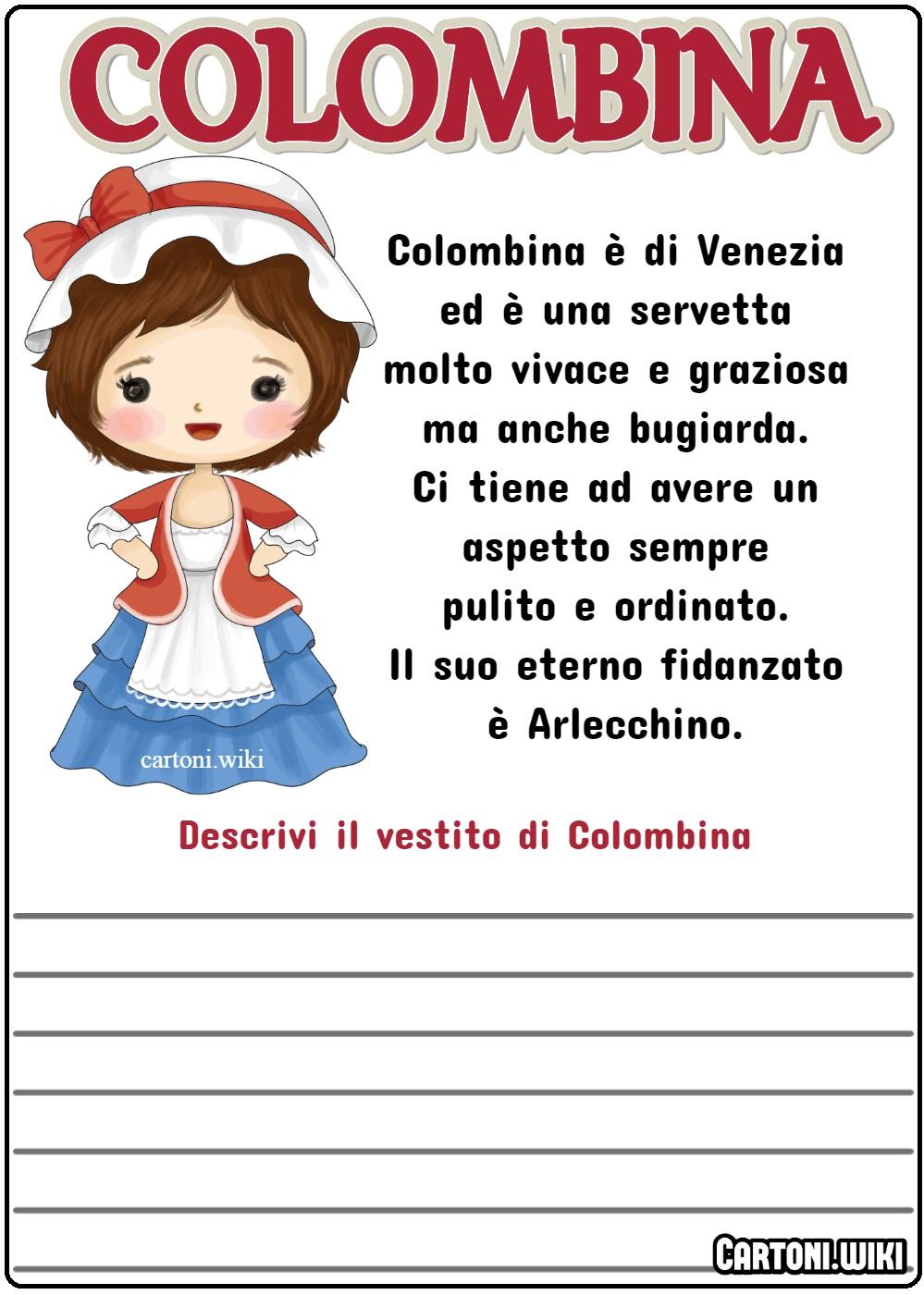 Descrivi il vestito di Colombina