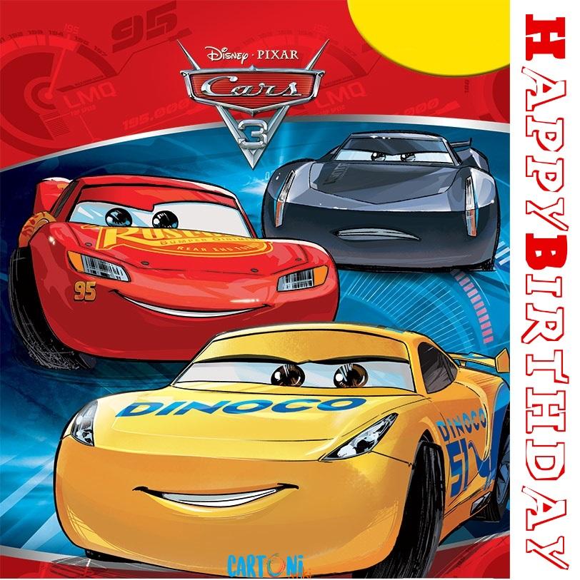 Happy Birthday Cars 3 Card - Cartoni animati