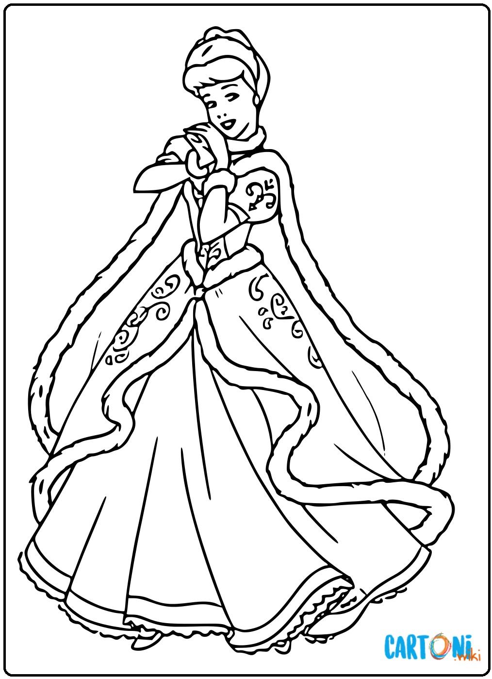 Cenerentola disegni gratis - Disegni da colorare