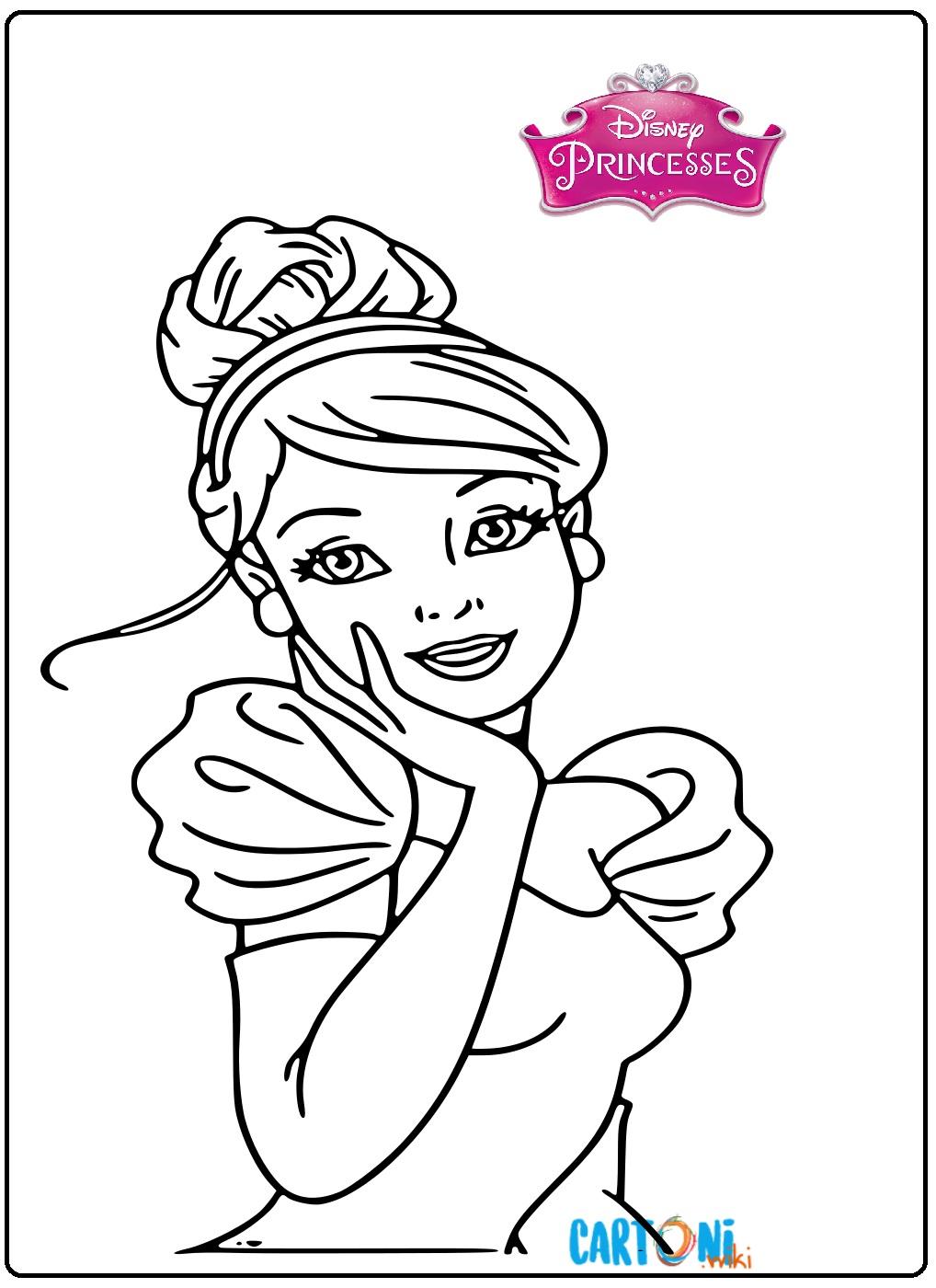 Disegni Da Colorare Gratis Ariel.Cenerentola Disegni Da Colorare Gratis Cartoni Animati