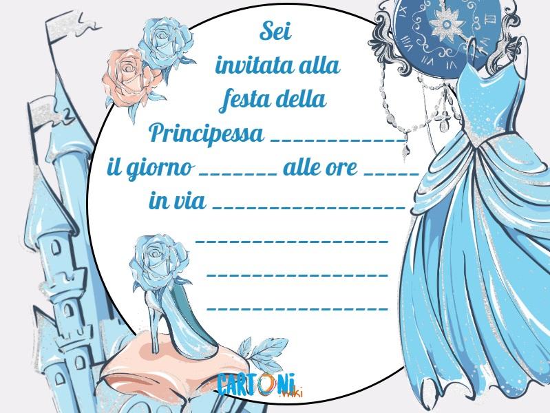 Cenerentola invito elegante - inviti compleanno online