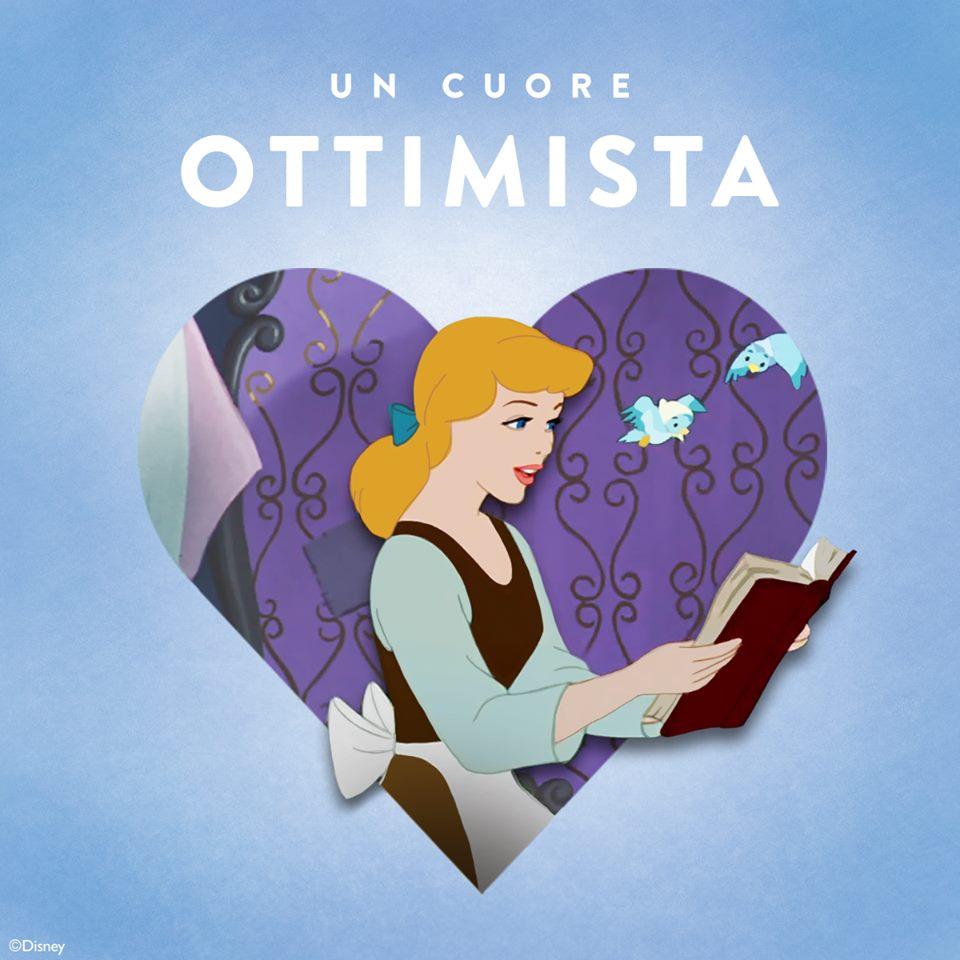Cenerentola principessa Disney con un cuore ottimista - Cartoni animati