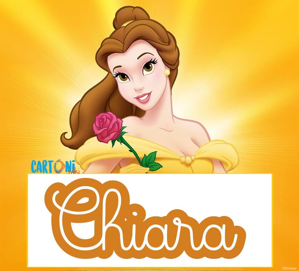 Chiara etichette Disney La bella e la bestia - Cartoni animati