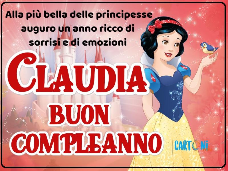 Buon compleanno Claudia con Biancaneve - Cartoni animati